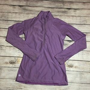 Athleta Purple 1/2 Zip Long Sleeve Pullover XS